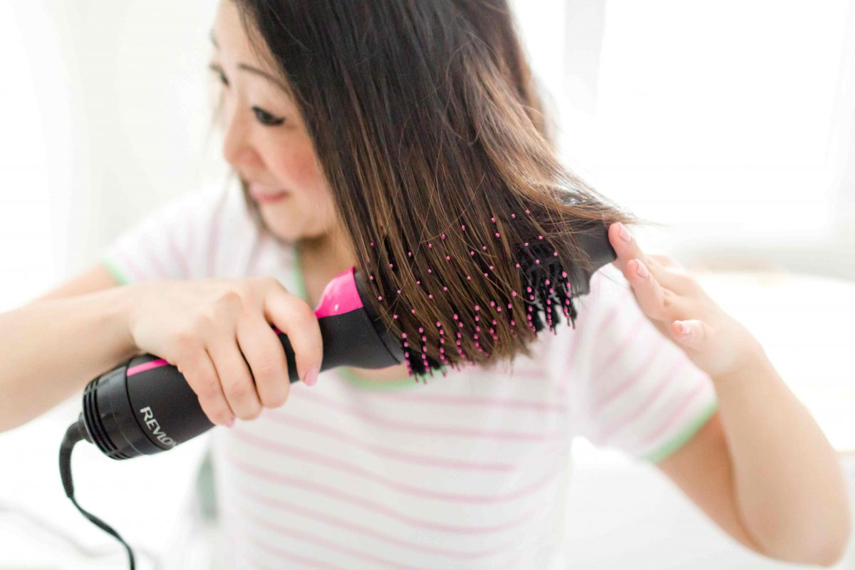 This Revlonhair dryer, specifically the Revlon One-Step Hair Dryer and Volumnizer is going to step up your hair game and you will look like you walked out of the salon EVERY TIME you use it. Best blow out of my life and I get SO many compliments!