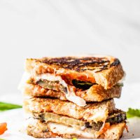 If you're looking for an alternative to eggplant parmesan, this eggplant parmesan SANDWICH is it! #eggplant #eggplantparmesan #eggplantrecipe #eggplantrecipes #eggplantideas