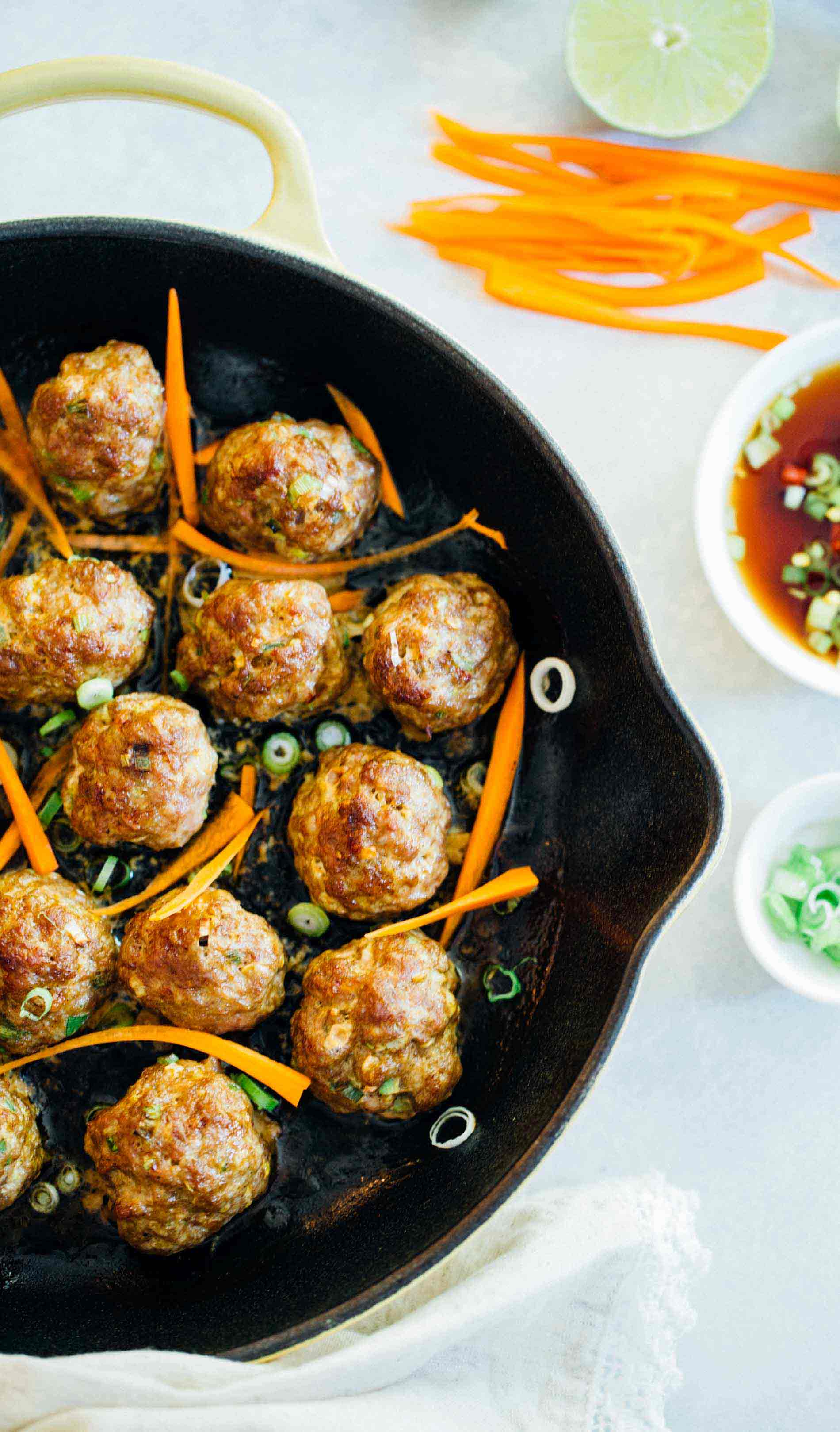 Asian Pork Meatballs - Easy Asian Meatballs for Rice or