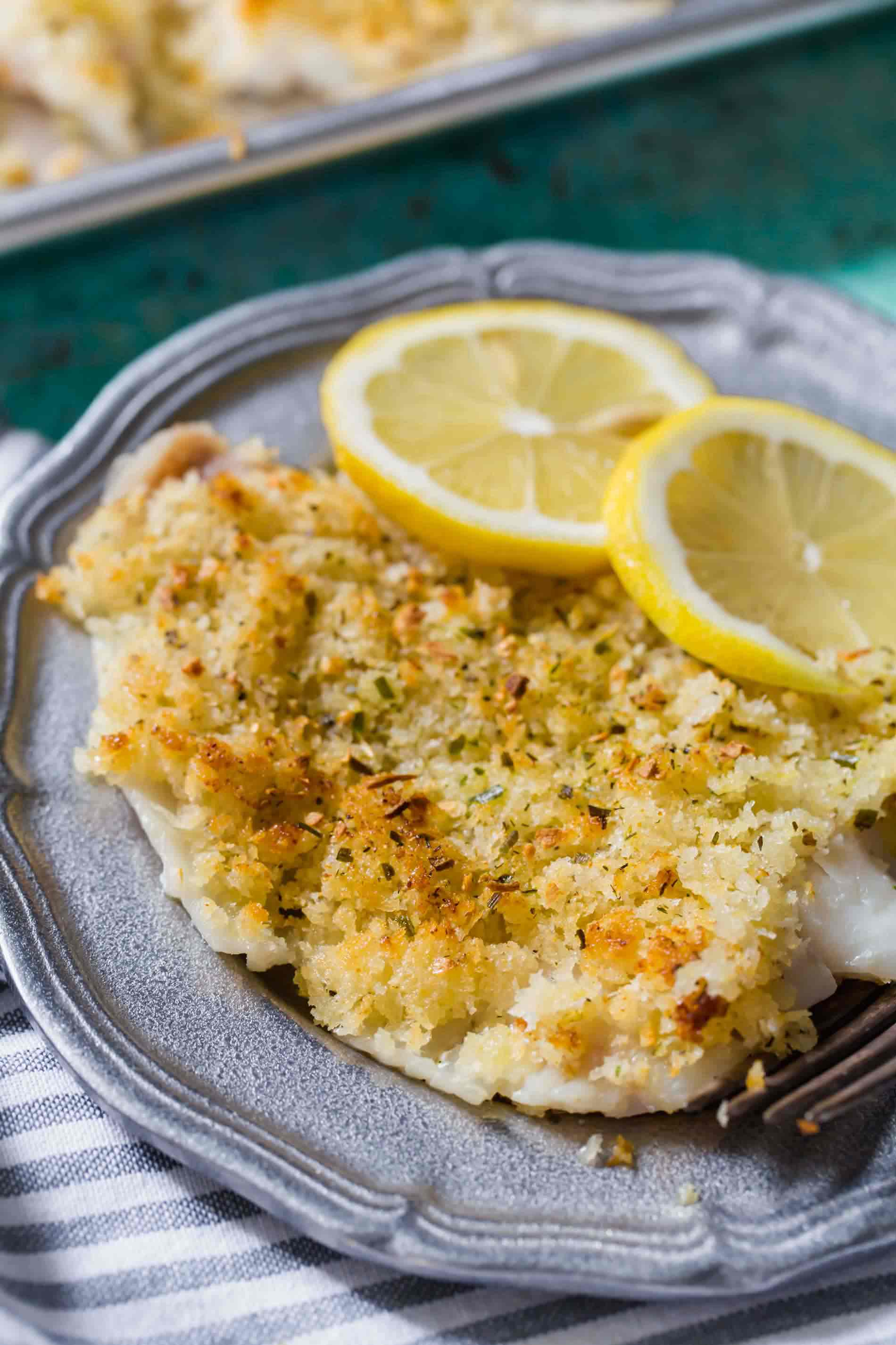 If you're looking for a quick seafood dinner, this crispy baked haddock comes together in less than 20 minutes and it is packed with a flavorful punch!