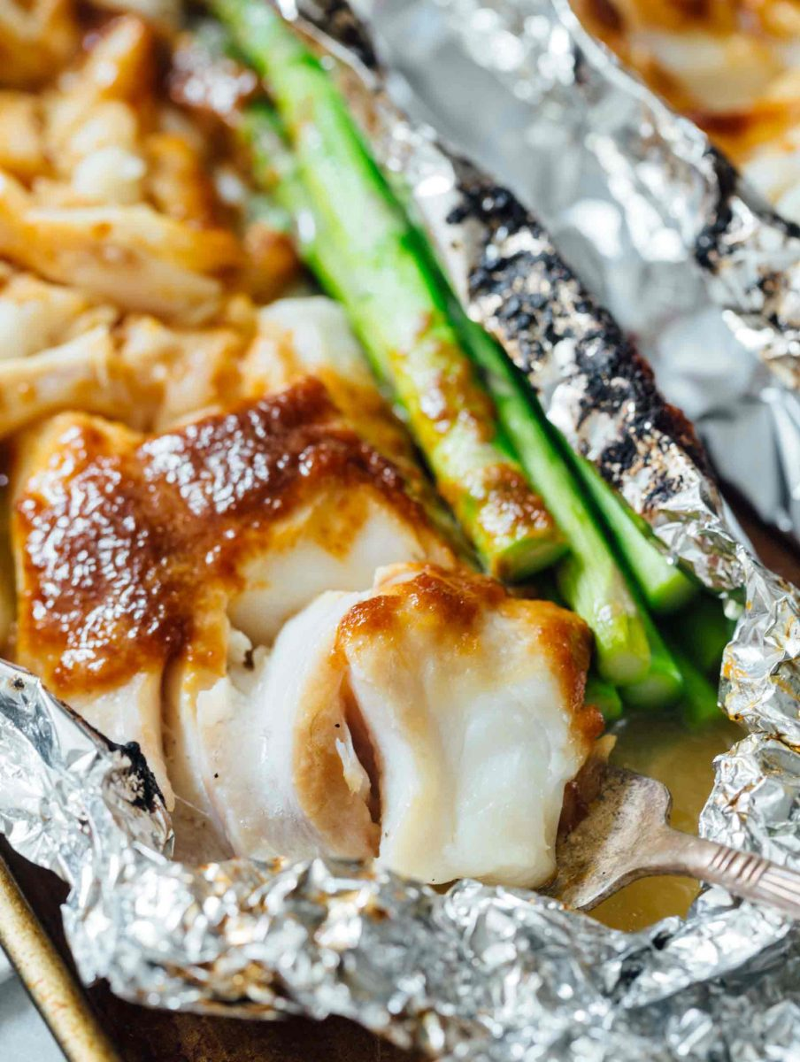 Who doesn't love foil packet dinners? This miso butter cod foil packet dinner is SO easy to make and has the most incredible umami-filled flavors!
