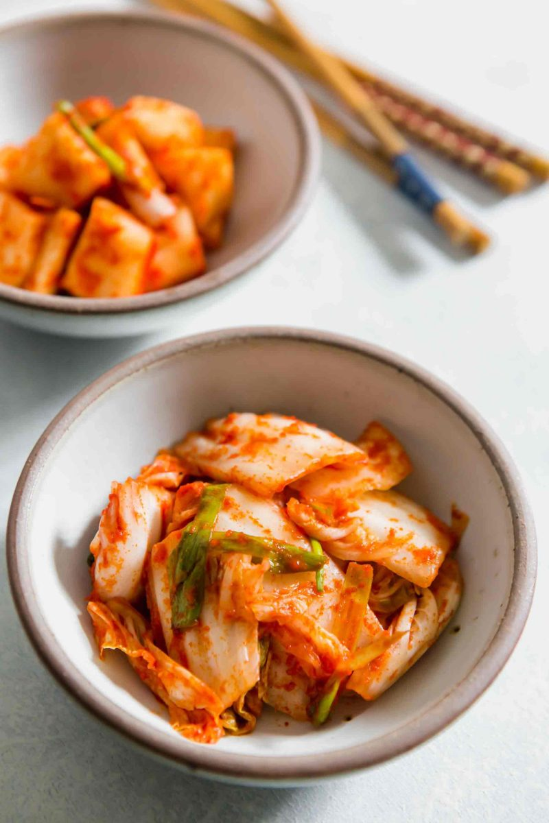 If you have ever wondered how to make homemade kimchi, my friend's Korean mom taught me how and we made a VIDEO! Go to the blog to see!