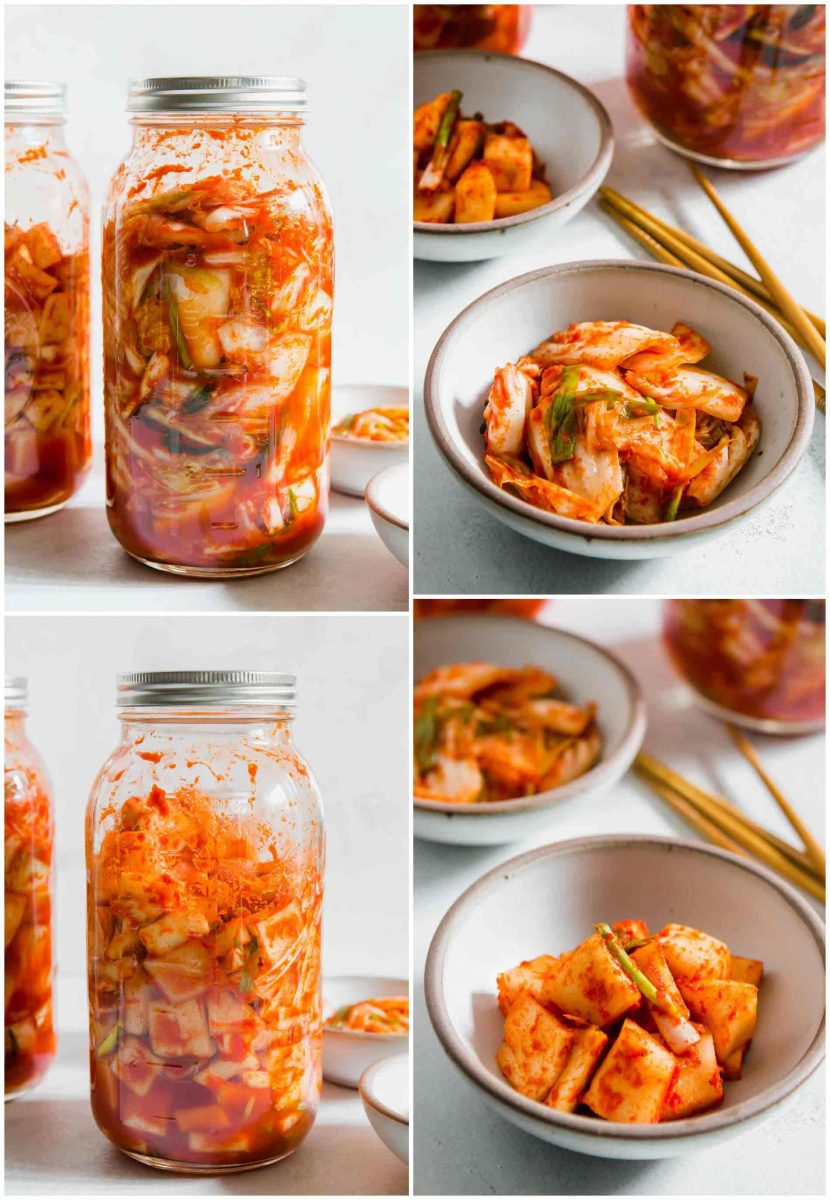 If you've ever wondered how to make homemade kimchi, my friend's Korean mother taught me how and we made a VIDEO! Head to the blog to watch! #homemadekimchi #kimchi #kimchee #fermented #fermentedcabbage #koreanfood #kimchirecipe
