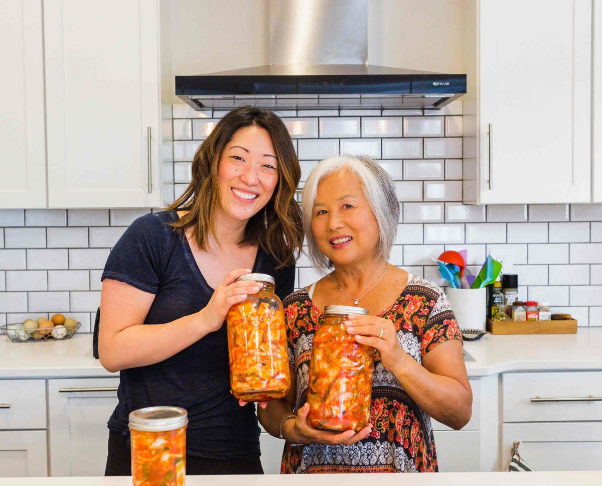 If you've ever wondered how to make homemade kimchi, my friend's Korean mom taught me how and we made a VIDEO! Go to the blog to see!