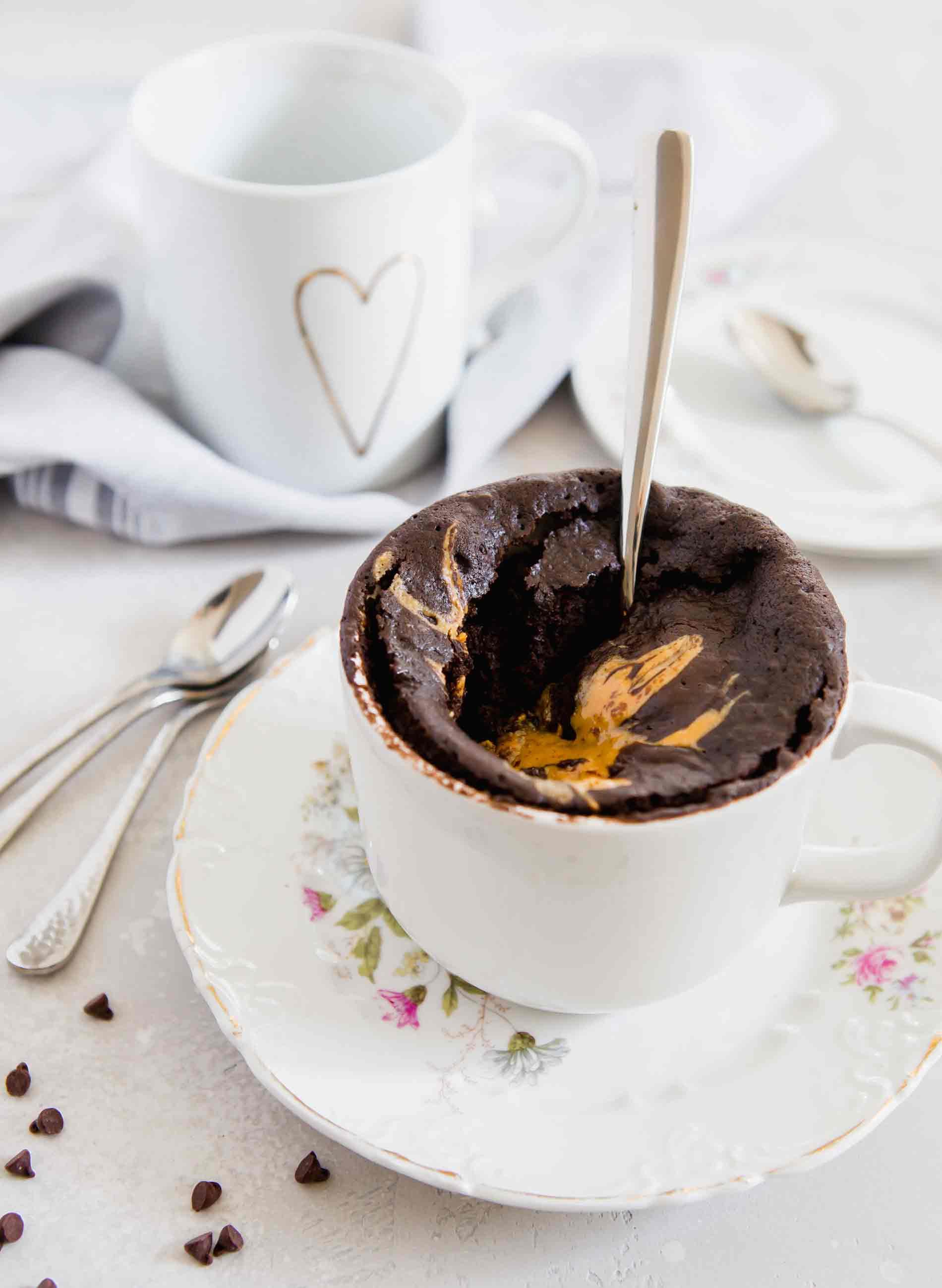 Peanut Butter Chocolate Mug Cake Egg Free Peanut Butter Mug Cake