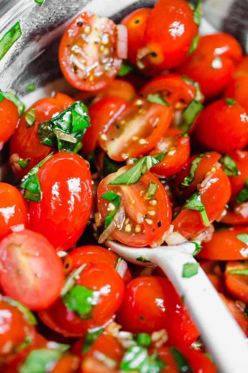 This is the best summer tomato salad! With a short ingredient list, this fresh salad will have you making it all summer long!