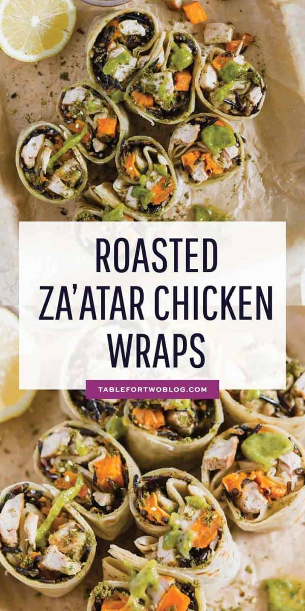 Roasted za'atar chicken wraps made with SVO Farmer Focus are a travel-friendly meal option that doesn't require refrigeration! Make these so you can enjoy your travels but also know that you won't be hungry! #ad #svo #organicchicken #travelfriendly #chickenwraps #easylunch #lunchidea #nodairy #dairyfree