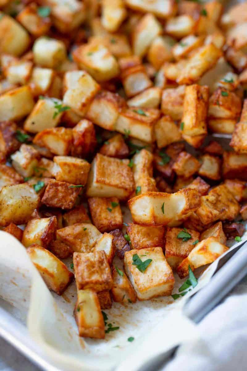 Roasted five spice potatoes are a flavorful twist on the classic roasted potatoes! You'll love this new flavor combination for roasted potatoes!