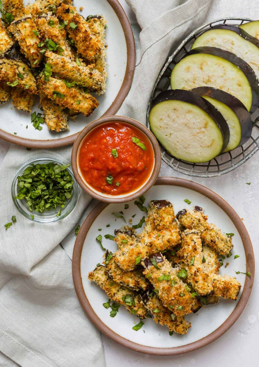 If you're looking to amp up your eggplant parmesan game, these eggplant parmesan fries are a fun appetizer and snack for any occasion!