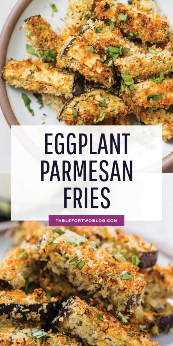 If you're looking to amp up your eggplant parmesan game, these eggplant parmesan fries are a fun appetizer and snack for any occasion! #eggplantparmesan #eggplant #eggplantrecipes #italian
