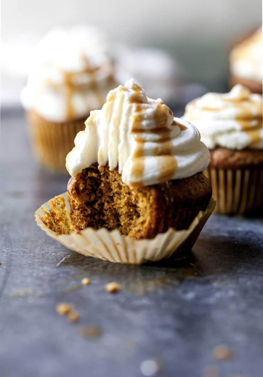Pumpkin spice latte cupcakes are the drinks in cupcake form and they're so much better in cupcakes than in a cardboard cup!
