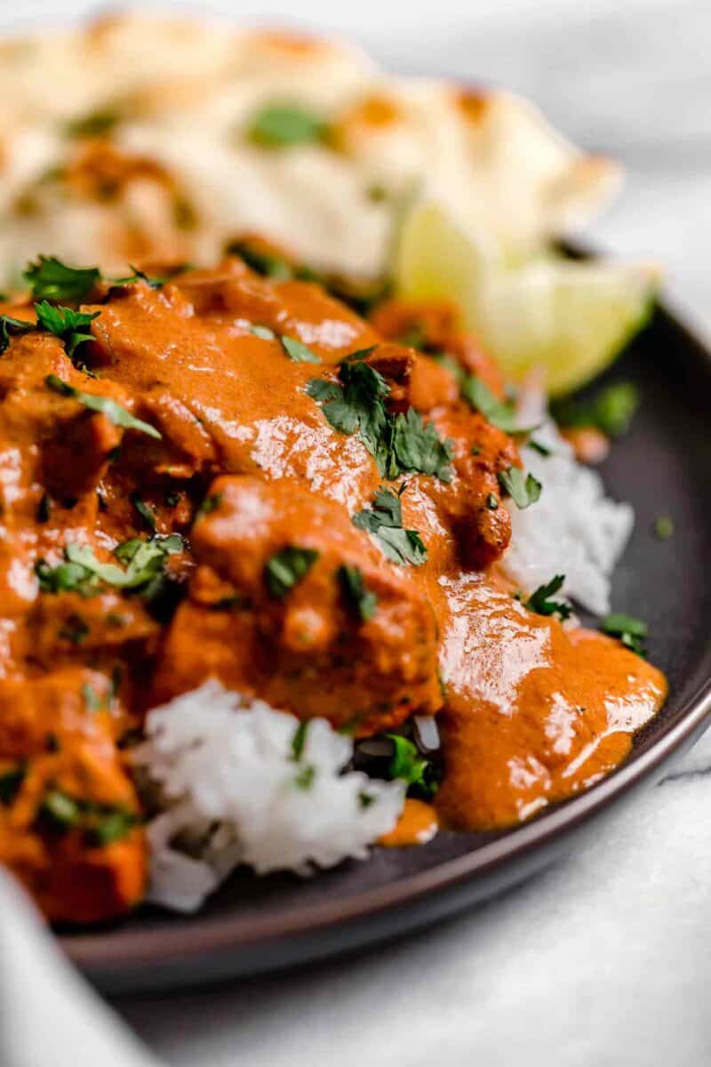 This slow cooker chicken tikka masala is a classic Indian dish that you can make in the slow cooker so it's waiting for you when you get home!