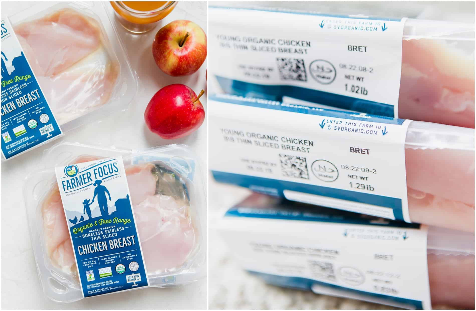 Packages of Farmer Focus chicken breast