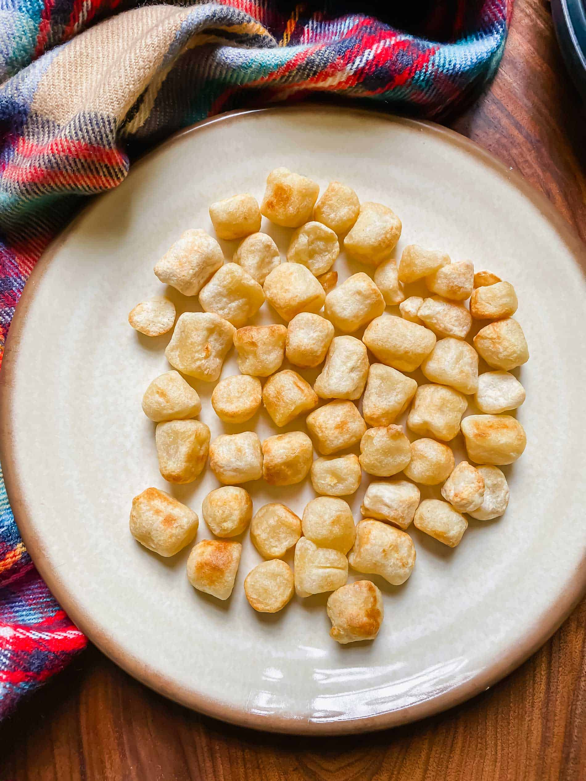 Air frying cauliflower gnocchi is a great way to get that crispy exterior and soft center!